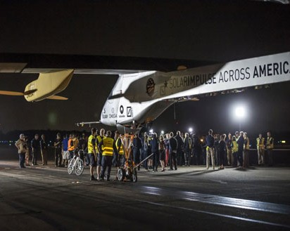 Solar-Powered Airplane Achieves 21-Hour Flight in Cross-Country Trip