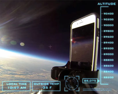 iPhone 6 Survives Drop Test from Space